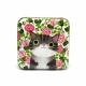 Grå katt med rosor (burk)