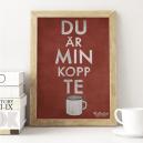 Du är min kopp te (röd)