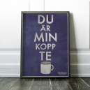 Du är min kopp te (blå)