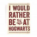 Harry Potter -Anteckningsbok I would rather be at Hogwarts
