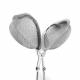 Tetång hjärta (silverfärgad)