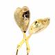 Tetång hjärta (guldfärgad)