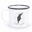 Emaljmugg Gotland Svart