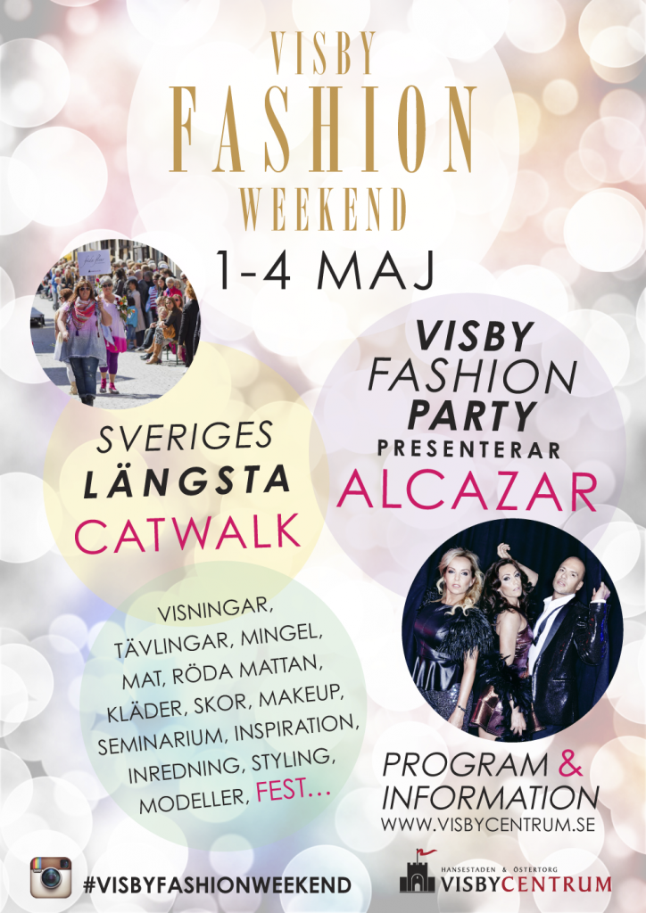 Affisch Visby Fashion Weekend 2014
