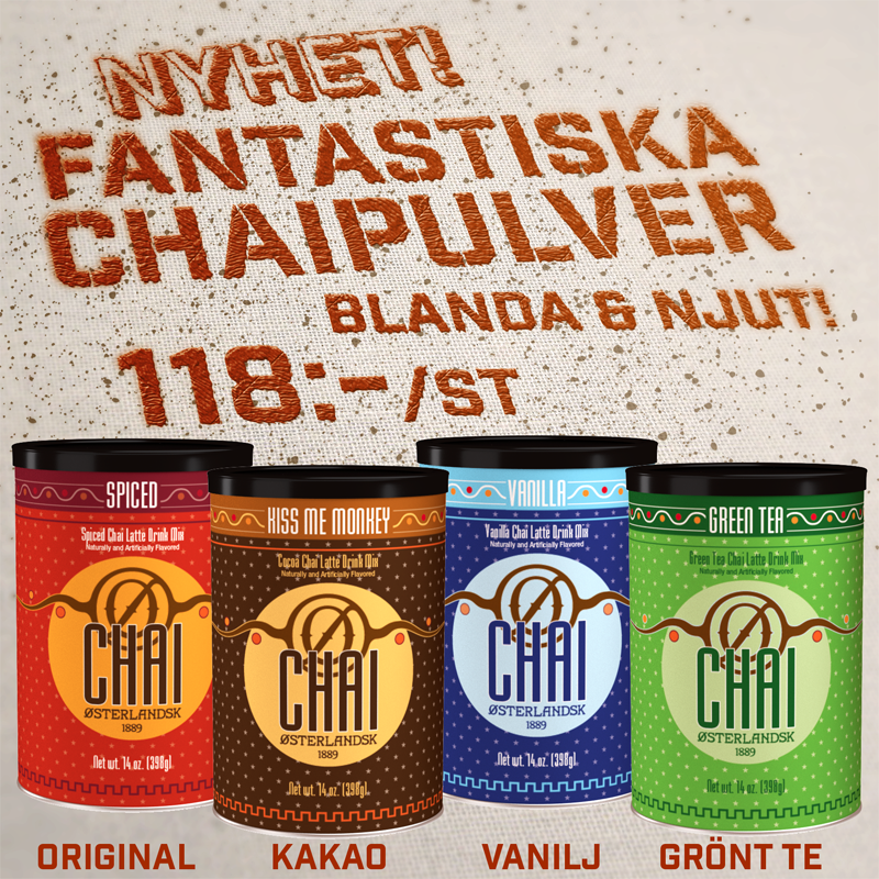 Chaipulver Nyhet