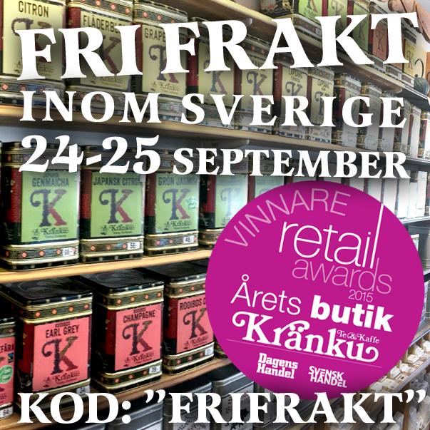 Fri frakt 24-25 september 2015