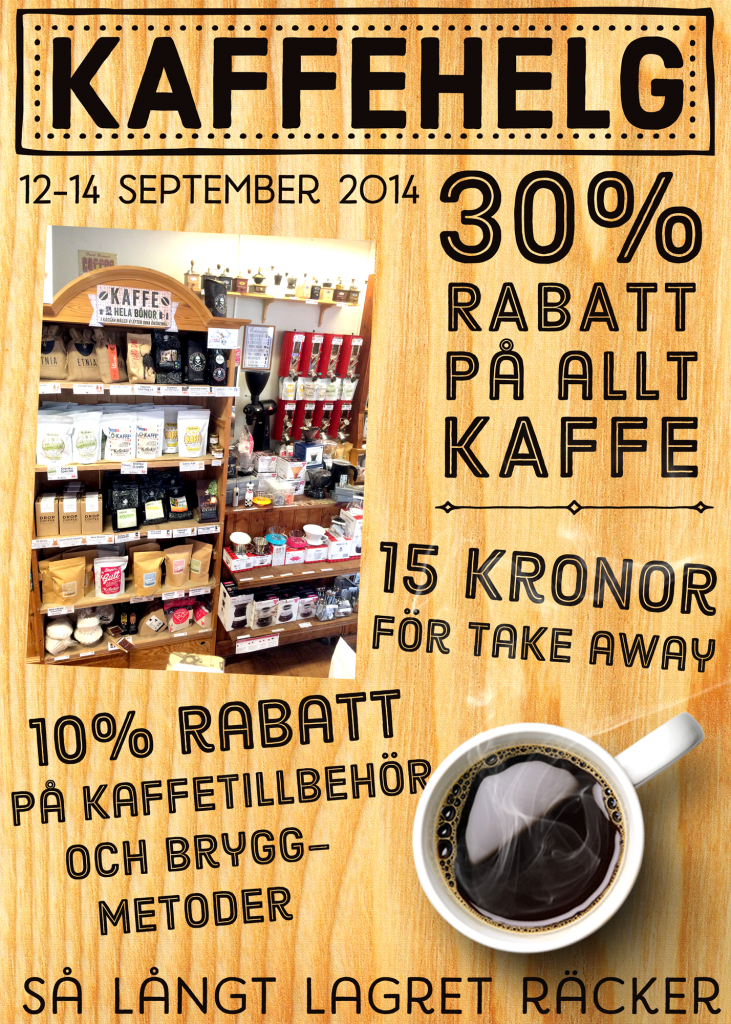 Kaffehelg sept 2014 affisch WEB