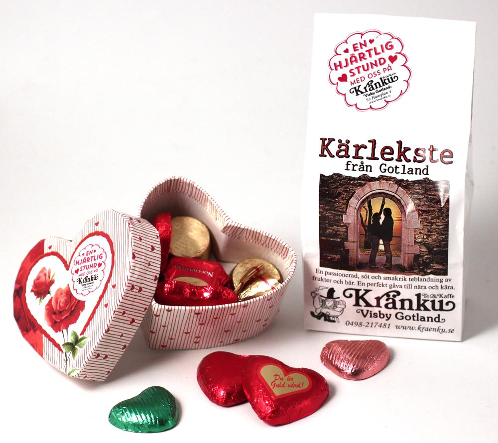 Kärlekste och ask med choklad