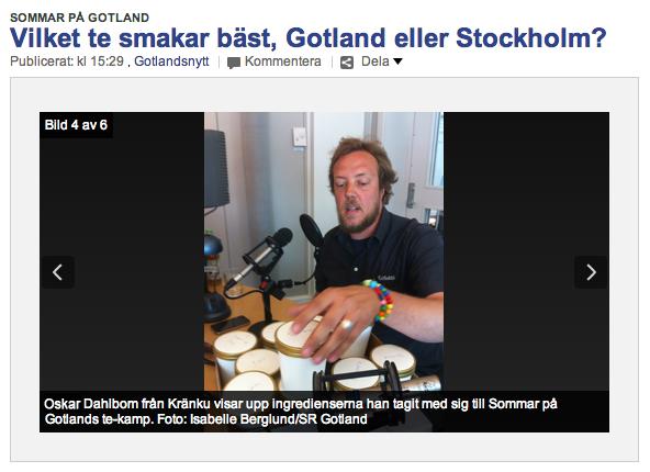 Oskar på P4 Gotland