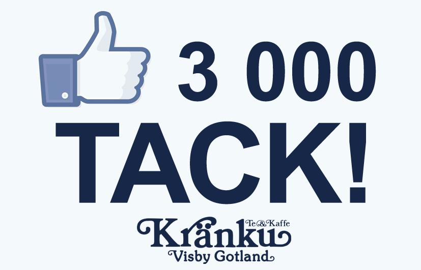 3000 gillare på Facebook!